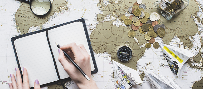 Image showing a person planning a trip.