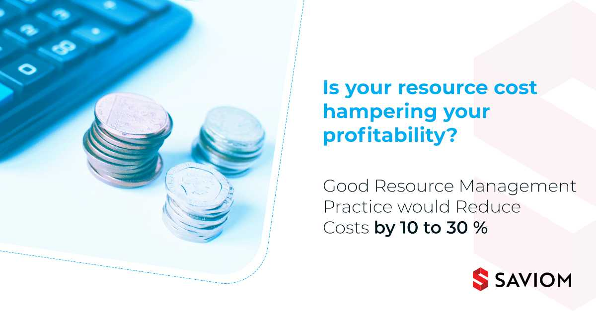 Resource management software to reduce resourcing costs